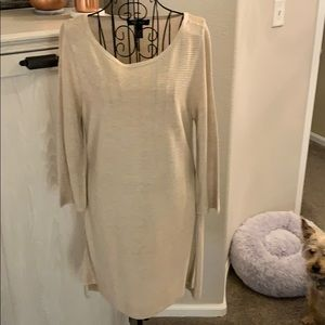 WHBM Gold Tunic Sweater